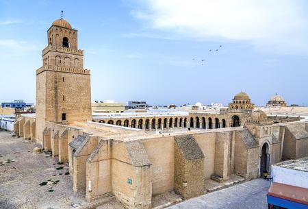 kairouan: Great Mosque of Kairouan, Tunisia, africa