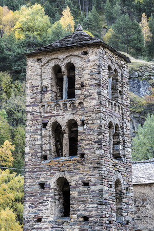 pyrenees: Sant Joan de Caselles (Canillo, Andorra). Romanesque church build in the 12th century.