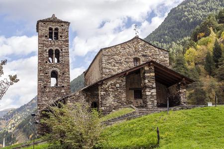 andorra: Sant Joan de Caselles (Canillo, Andorra). Romanesque church build in the 12th century.
