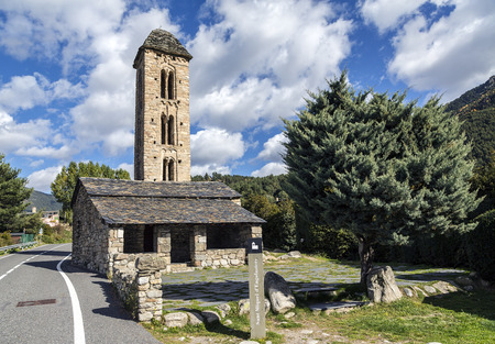 architectural feature: Romanesque church Sant Miquel d�Engolasters whose main architectural feature is the bell tower, with stories having mullioned windows and Lombard archs. Andorra, UNESCO World Heritage Site