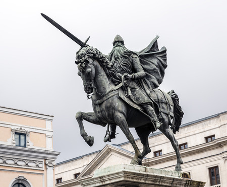 cid: Equestrian statue of El Cid, Burgos, Spain
