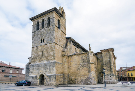 way of st james: Church of San Pedro in Fromista, Castille and Leon, Spain, a famous stop on the Way of St James to Compostela.