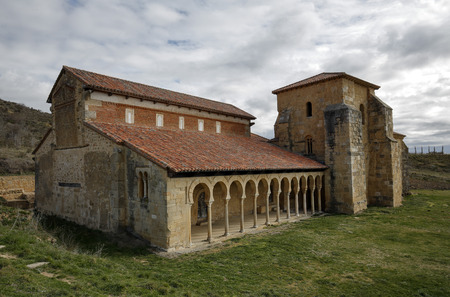 Mozarabic monastery of San Miguel de Escalada in Leon, Spain Stock Photo - 38785037