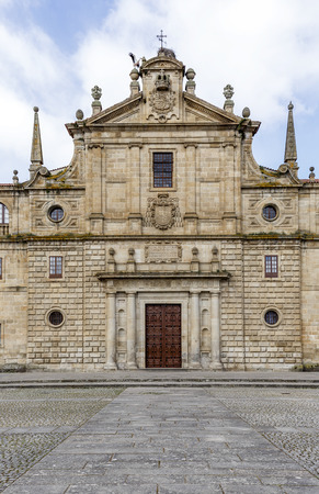 orense: College of Our Lady of the Old,Monforte of Lemos,Spain. Stock Photo