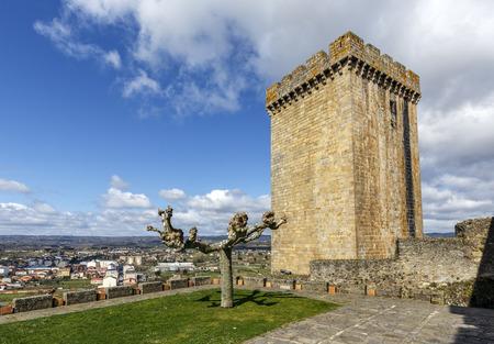 sacra: terra de lemos (Ribeira Sacra): Castle of the Counts of lemos in the town of Monforte de Lemos, keep. Spain