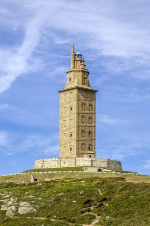 galicia: Hercules tower , La Coruna, Galicia, Spain, UNESCO Editorial