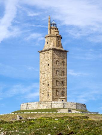 hercules: Hercules tower , La Coruna, Galicia, Spain