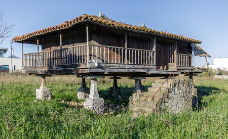 granary: Horreo , Granary, typical Galician house In Spain