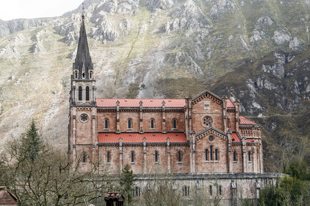 battles: Basilica of Our Lady of Battles, Covadonga, Asturias, Spain.