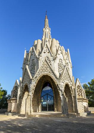 josep: Sanctuary of Montserrat in Montferri  Alt Camp, Tarragona province, Catalonia, Spain. By modernist architect Josep Maria Jujol Stock Photo