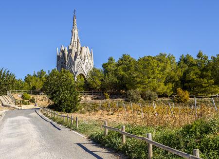 modernist: Sanctuary of Montserrat in Montferri  Alt Camp, Tarragona province, Catalonia, Spain. By modernist architect Josep Maria Jujol Stock Photo