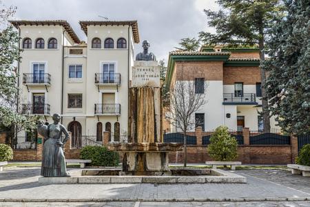 toran: Teruel, Spain - March 11, 2016: Statue tribute to the city of Teruel Spain, his son Jose Toran. The sculptor Victorio Macho.