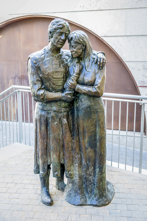 isabel: Teruel, Spain - March 11, 2016: Mausoleum of the lovers in the church of San Pedro de Teruel, work of Juan de Avalos. It tells the story of love between two young turolenses, Isabel de Segura and Juan Martinez de Marcilla