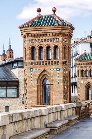 mudejar: Aragon Teruel Mudejar city buildings near Escalinata in Spain
