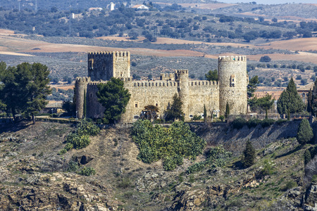 expulsion: Toledo, Spain - March 13 , 2016: San Servando Castle is located in the city of Toledo, Spain, along the banks of the Tagus River and the Infantry Academy. In 1874 he was declared a national artistic monument.