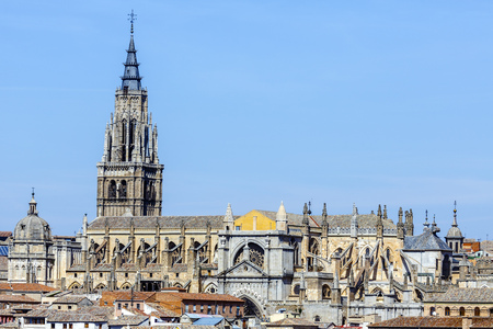 gotico: Toledo, Espa�a. Catedral Primada de Santa Mar�a de Toledo, construido en estilo g�tico mud�jar (1226). Castilla la Mancha. Foto de archivo