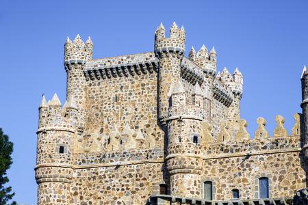 castilla la mancha: Detail tower of Guadamur castle, Toledo, Castilla la Mancha, Spain