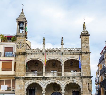 located: City Council of Plasencia, Spanish municipality in the province of Caceres, located in the north of the autonomous community of Extremadura Stock Photo
