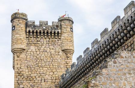 turret: Oropesa Castle Turret in Toledo, Spain Editorial