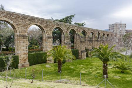 aqueduct: Aqueduct of San Anton in Plasencia, province of Caceres, Spain