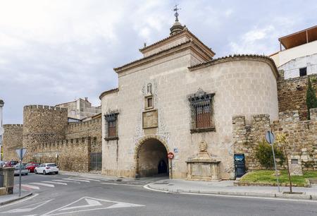 extremadura: Door Trujillo of Plasencia, Caceres, Extremadura. Spain Editorial