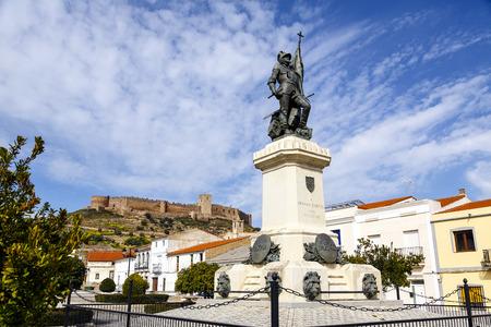 medellin: Statue of Hernan Cortes, Mexico conqueror, Medellin, Extremadura Spain Stock Photo