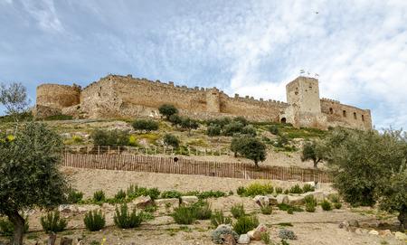 extremadura: castle in Medellin, Badajoz Province, Extremadura, Spain