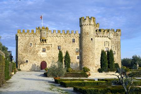 Aldea del Cano Castle Arguijuela province of Caceres, Extremadura Spain Editorial