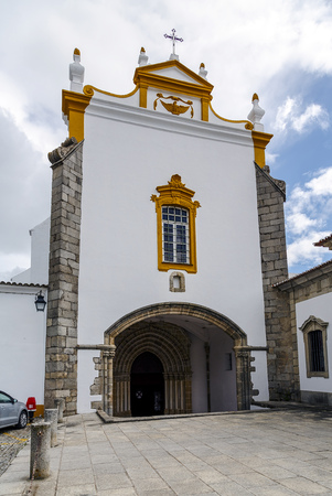 john the baptist: Evora Portugal, Church Saint John Baptist. Stock Photo