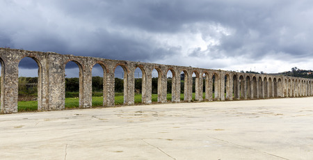 extremadura: This 3km long aqueduct was built in the 16th century in Obidos in Extremadura Portugual. Stock Photo