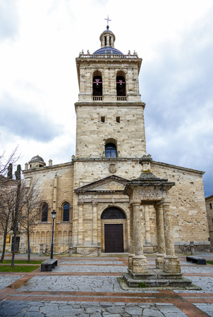 clergy: Ciudad Rodrigo, Spain - March 21, 2016: Cathedral of Santa Maria (12th Century) in Ciudad Rodrigo, a small city in the province of Salamanca, Spain.
