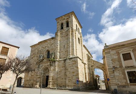 san pedro: Church of San Pedro and San Ildefonso in Plaza de Fray Diego de Deza, Zamora Spain Stock Photo