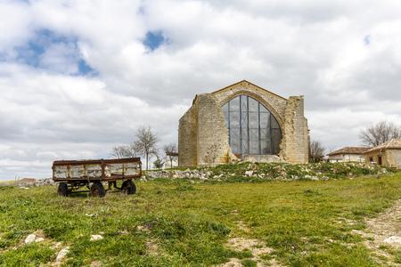 xvi: Parish Church of Saint Mary the New XVI century. Benafarces in the province of Valladolid, Spain