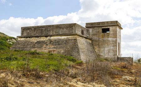 bunker: Bunker of concrete in Mota del Marques, Valladilid Spain