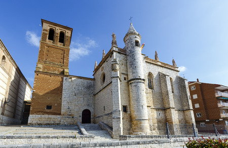 treaty: Mun Antolin church in Tordesillas (Spain), located in the province of Valladolid, where Reyes Catholics signed the Treaty of Tordesillas with the Portuguese crown in 1494. Stock Photo