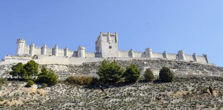castile and leon: Penafiel Castle, Valladolid Province, Castile and Leon, Spain Editorial