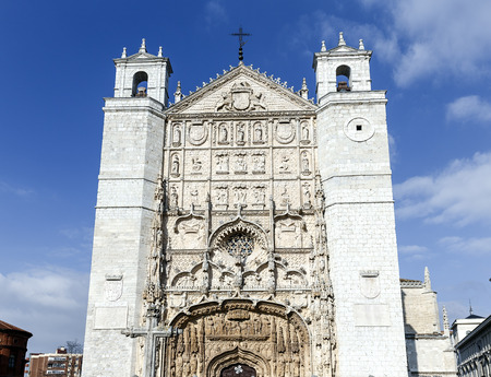 castille: Facade of the San Pable Church (15th Century) in Valladolid, Castile and Leon, Spain. Stock Photo