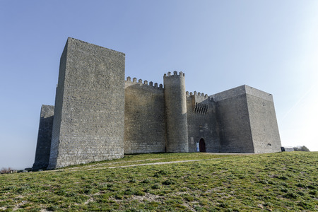 Montealegre de Campos castle is located in Castilla y Leon, Spain, close to the city of Valladolid. It is a medieval castle still keeping its high defensive walls Reklamní fotografie