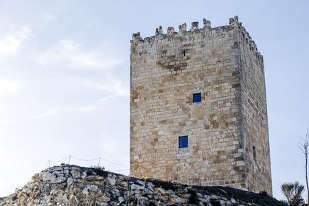castle district: Castle Langa de Duero called  The Cube, province of Soria, judicial district of El Burgo de Osma, Castile and Leon, Spain