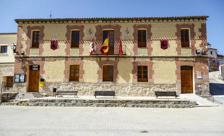 cano: Curiel de Duero, Spain - March 24, 2016: Curiel de Duero Town Hall, is a Spanish municipality in the province of Soria, Spain. Editorial