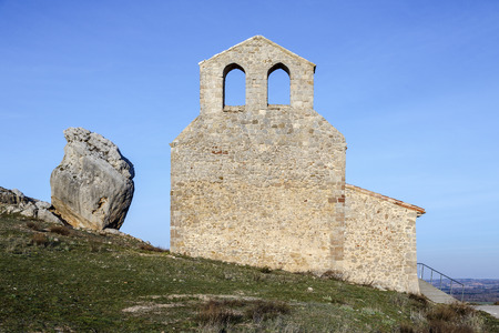 hermitage: Hermitage of San Miguel, at the foot of Castle Gormaz, province of Soria. Spain