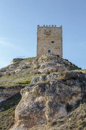 judicial: Castle Langa de Duero called  The Cube, province of Soria, judicial district of El Burgo de Osma, Castile and Leon, Spain