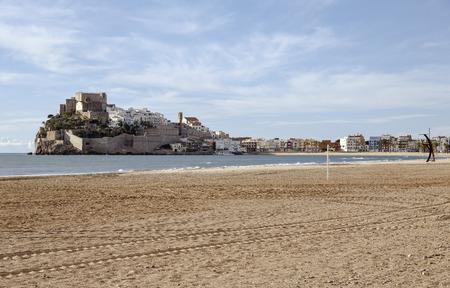 valencia: Panorama view of the Peniscola, Valencia, Spain Stock Photo