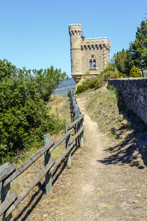 mistery: The Tour Magdala in Rennes le Chateau. The mistery of the Cathars, The Holy Graal, Templars Stock Photo