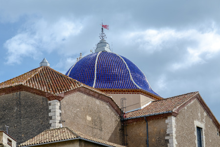 St. Bartholomew's Church Benicarlo, Castellon Province, Spain. in Baroque style. Detail of the dome 写真素材