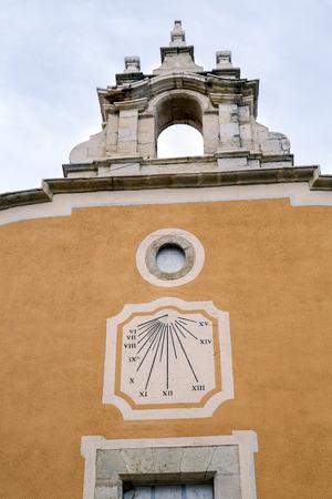 francesc: Convent of Sant Francesc, San Francisco in Benicarlo Castellon Spain, Detail of sundial in front