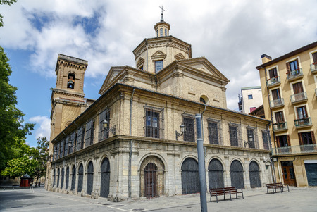 The church of San Lorenzo in the Old Town of the city of Pamplona, Navarre, Spain. It houses the San Fermin Chapel