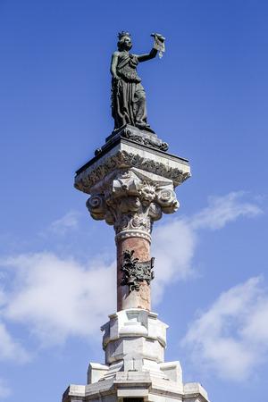 Monument to the Fueros. Iruna Pamplona, Navarra, Euskadi Spain
