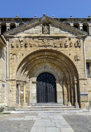 Collegiate church, Colegiata of Santa Juliana, romanesque style in the touristic village of Santillana del Mar, province Santander, Cantabria, Spain