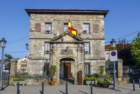autonomia: Cabezon De La Sal, Spain - August 24, 2016: In this city council was requested for the first time with unanimity of plenary, the autonomy of the community Cantabra
